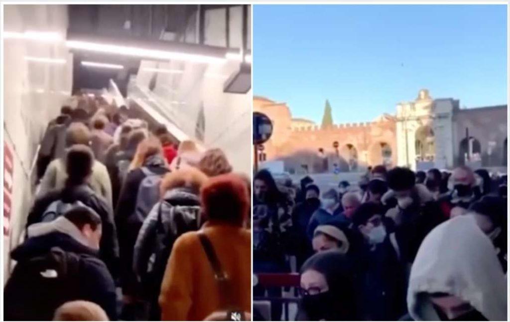 Lavori in corso, folla e spintoni alla stazione della metro, ma per Conte è sempre colpa dei cittadini